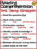 Reading Comprehension Test Taking Strategies Poster
