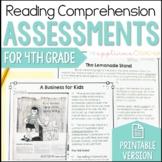 4th Grade Reading Comprehension Tests