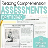 Reading Comprehension Tests 4th Grade