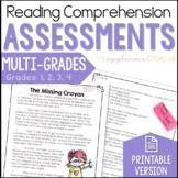 Reading Comprehension Tests Multi-Grade Bundle