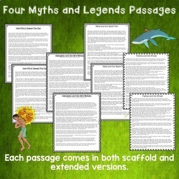 Māori Myths and Legends Reading Comprehension Passages and Questions NZ US