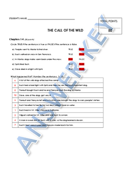 Reading Comprehension - The Call of the Wild (Penguin Readers)