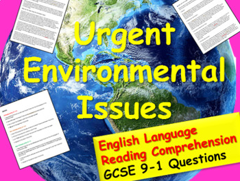 Reading Comprehension: The Environment