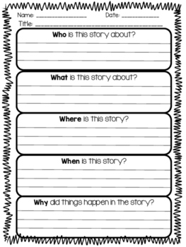 Reading Comprehension The Five W's