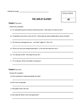 Reading Comprehension - The Great Gatsby (Penguin Readers)