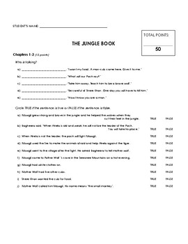 Reading Comprehension - The Jungle Book (Penguin Readers)