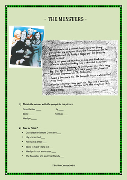 Reading Comprehension - The Munsters family
