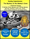 Reading Comprehension Passage and Questions Informational Text Egypt Mummy's