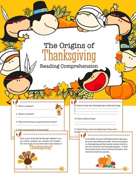 Reading Comprehension - The Origins of Thanksgiving story
