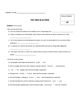 Reading Comprehension - The Time Machine (penguin Readers)