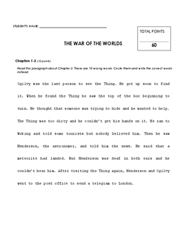 Reading Comprehension - The War of the Worlds (Penguin Readers)