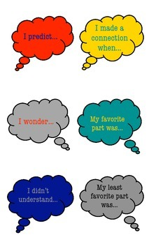 Reading Comprehension Think Clouds