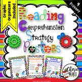 Reading Comprehension Strategy Posters 2nd 3rd 4th 5th Grade Style 2