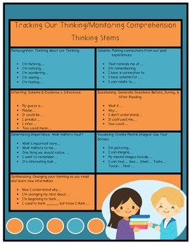 Reading Comprehension Thinking Stems