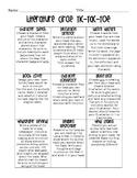 Reading Comprehension Tic-Tac-Toe *Literature Circles*Nove