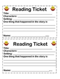 Reading Comprehension Tickets