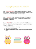 Reading Comprehension Tips and Tricks