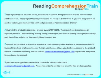 Reading Comprehension Train: Writing Template for Sequencing Story Events
