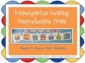 Reading Comprehension Train for Kindergarten CCSS