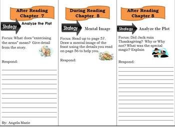 Reading Comprehension Trifold Thanksgiving on Thursday Magic Tree House