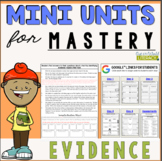 Reading Comprehension Mini Unit for Mastery- Finding Evidence
