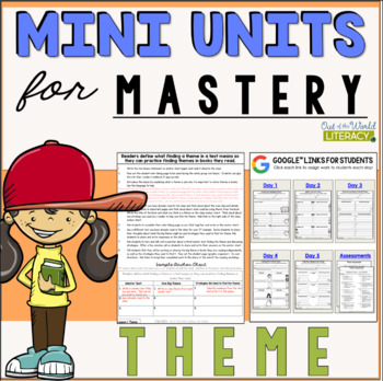 Reading Comprehension Unit- Theme- Included in Bundle #2