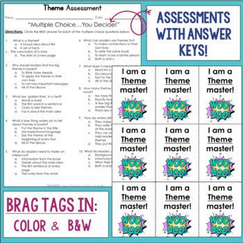 Reading Comprehension Mini Unit for Mastery- Theme