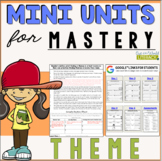 Reading Mini Unit for Mastery- Theme | Distance Learning Ready
