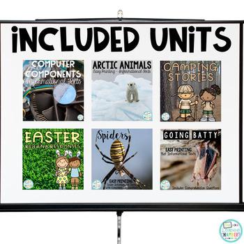 Reading Comprehension Units Bundle: Main Idea, Comprehension Questions, Facts