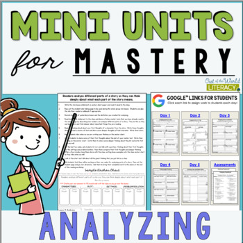 Reading Comprehension Units for Mastery- Analyzing