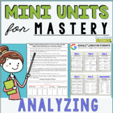 Reading Comprehension Mini Unit for Mastery- Analyzing