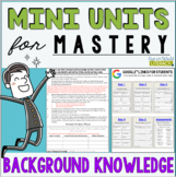 Reading Comprehension Mini Unit for Mastery- Background Knowledge