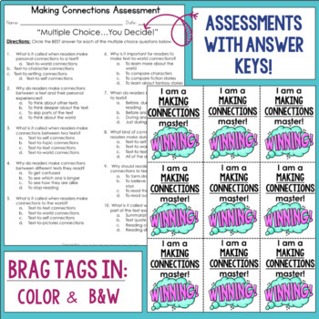 Reading Comprehension Unit- Making Connections- Included in Bundle #1