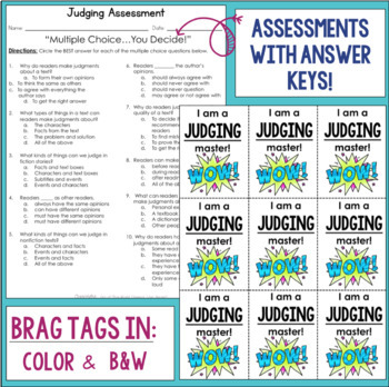 Reading Comprehension Units for Mastery- Making Judgments
