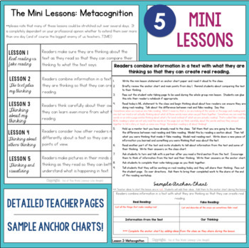 Reading Comprehension Units for Mastery- Metacognition