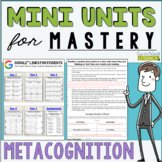 Reading Comprehension Units for Mastery- Metacognition- Included in Bundle #1