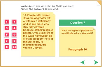 Reading Comprehension - Vitamin D