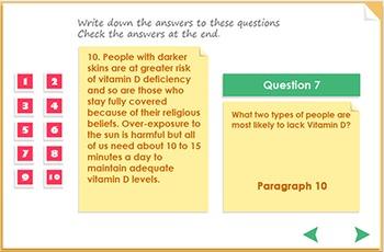Reading Comprehension - Vitamin D