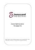 Reading Comprehension & Vocabulary:  Innocent Drinks