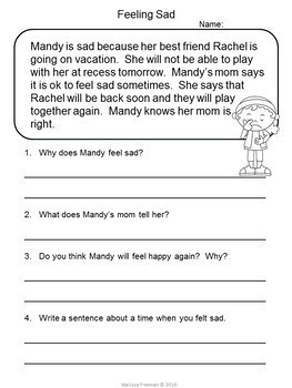 Reading Comprehension Passages for Second Grade #2