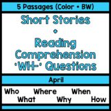 Reading Comprehension WH Questions [April]