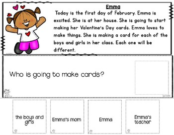 Reading Comprehension: WH Questions VALENTINES DAY (Special Education)