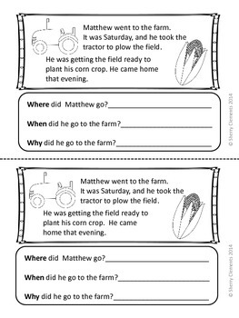 Reading Comprehension: Where? When? Why?