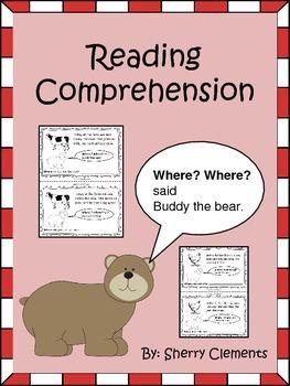 Reading Comprehension: Where? Where? said Buddy the Bear