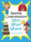 Reading Comprehension Passages and Questions Distance Learning