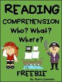 FREE DOWNLOAD : PIRATE READING COMPREHENSION FREEBIE
