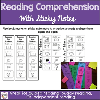 Reading Comprehension With Sticky Note Prompts