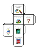 """Reading Comprehension """"Within the Text"""" Dice Template"""