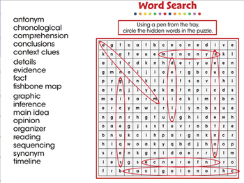 Reading Comprehension: Word Search - MAC Gr. 3-8