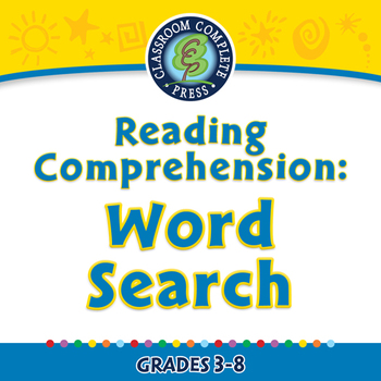 Reading Comprehension: Word Search - NOTEBOOK Gr. 3-8